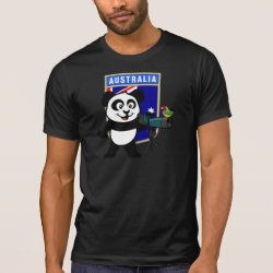 Australian Birding Panda Men's Alternative Apparel Basic Crew Neck T-Shirt