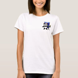 Women's Basic T-Shirt with Australian Birding Panda design