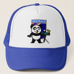 Trucker Hat with Australian Birding Panda design