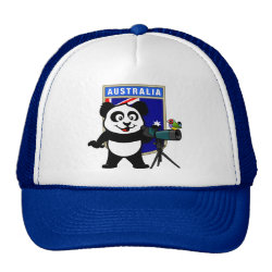 Trucker Hat with Australian Birding Panda design