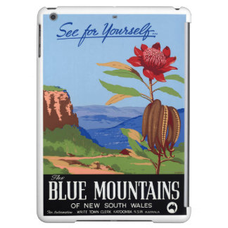 Australia Blue Mountains Restored Vintage Poster iPad Air Cover