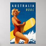 Australia - BOAC Póster
