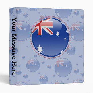 Australia Bubble Flag 3 Ring Binder