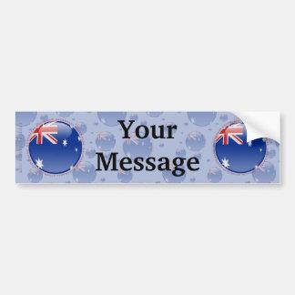 Australia Bubble Flag Car Bumper Sticker