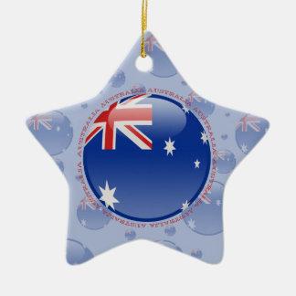 Australia Bubble Flag Ceramic Ornament