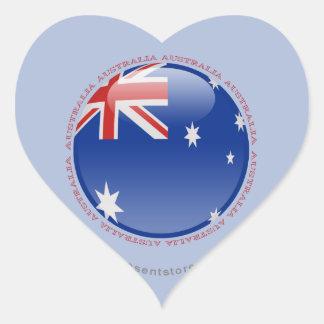 Australia Bubble Flag Heart Sticker