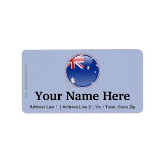 Australia Bubble Flag Label