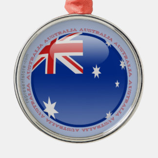 Australia Bubble Flag Metal Ornament
