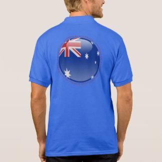 Australia Bubble Flag Polo T-shirt