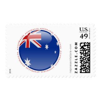 Australia Bubble Flag Stamps