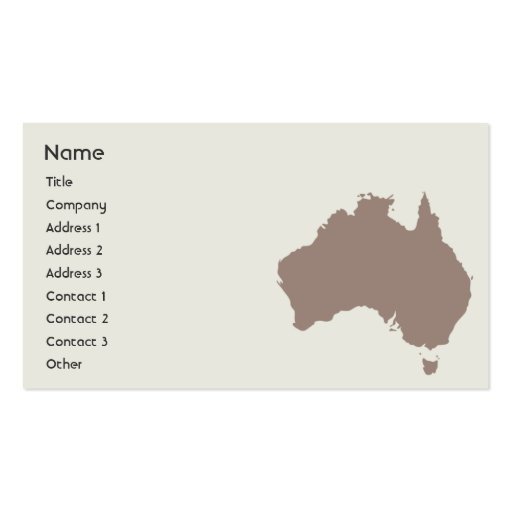Australia - Business Business Card Template