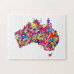 Australia Map Jigsaw.Map Of Australia Jigsaw Puzzles Zazzle