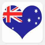 Australia Calcomanía Cuadradas Personalizadas