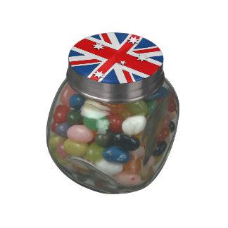 Australia Glass Candy Jars