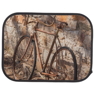 Australia, Clare Valley, Sevenhill, old bicycle Car Floor Mat