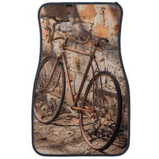 Australia, Clare Valley, Sevenhill, old bicycle Car Mat