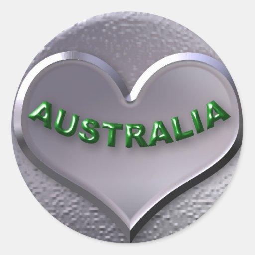 AUSTRALIA CLASSIC ROUND STICKER