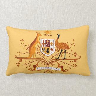 Australia COA Brown & Peach Pillow