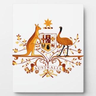 Australia COA Brown Plaque
