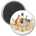 australia coat of arms 2 inch round magnet