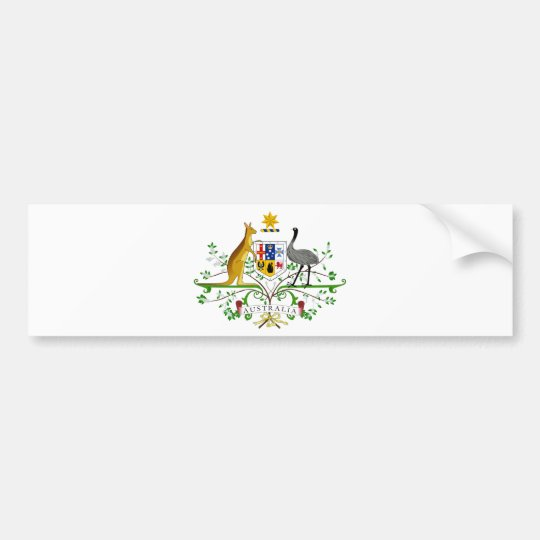 Australia Coat Of Arms Bumper Sticker