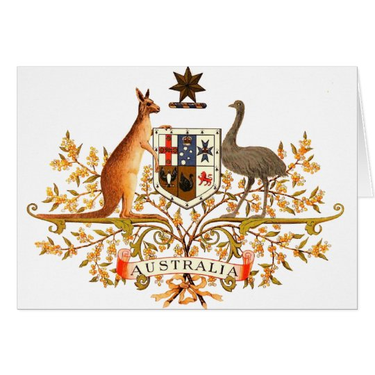 australia coat of arms card