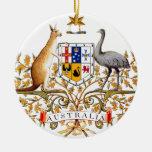 Australia coat of arms ceramic ornament