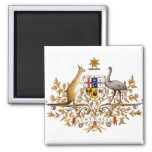 Australia Coat of Arms detail 2 Inch Square Magnet