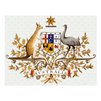 Australia Coat of Arms detail Postcard