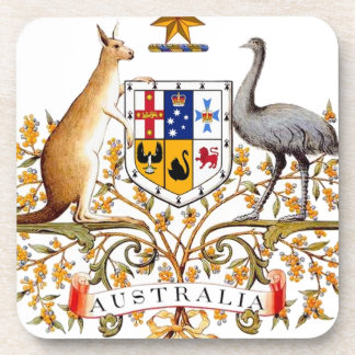 Australia coat of arms drink coaster