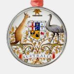 Australia coat of arms metal ornament