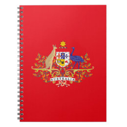 Australia Coat of Arms Network Edition Notebook