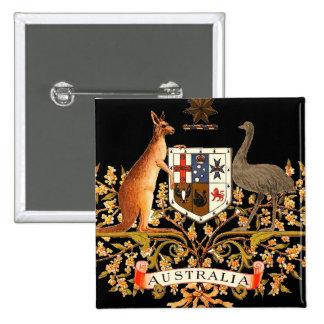 australia coat of arms pinback button