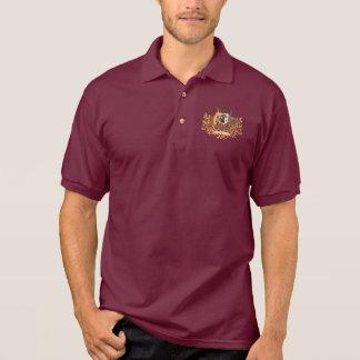 australia coat of arms polo t-shirts