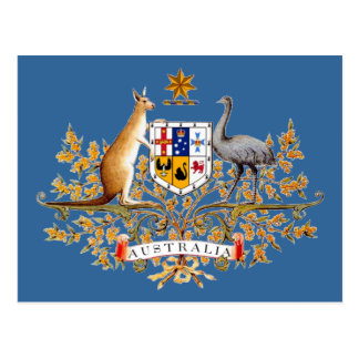 Australia Coat of Arms Postcard