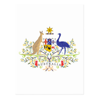 Australia Coat Of Arms Postcard