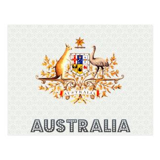 Australia Coat of Arms Post Card