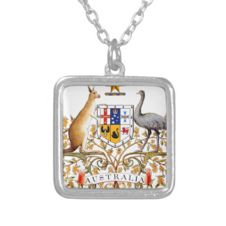 Australia Coat of Arms Silver Plated Necklace