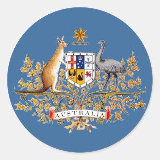 Australia Coat of Arms Classic Round Sticker