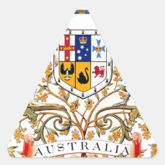 Australia coat of arms triangle sticker