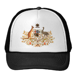 australia coat of arms trucker hat