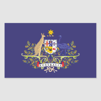 Australia Coat of Blue Arms Edition Rectangular Sticker