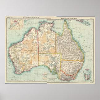 Australia compuesta póster