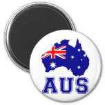 Australia Continent 2 Inch Round Magnet