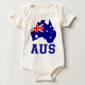 Australia Continent Baby Bodysuit