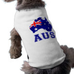 Australia Continent Dog Clothes