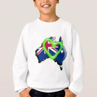 Australia (corazón verde) sudadera