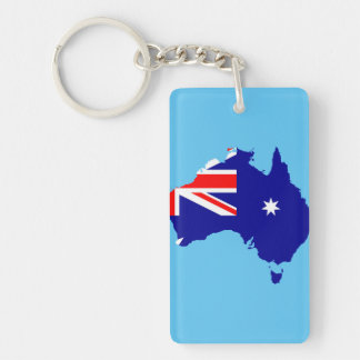 Australia country flag keychain