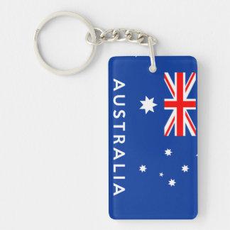 australia country flag symbol name text keychain