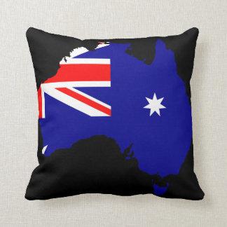 Australia country flag throw pillow